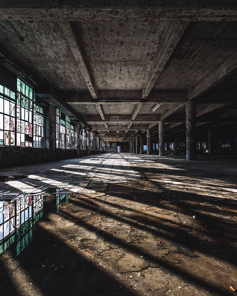 Patrick McAllister photo of an abandoned warehouse